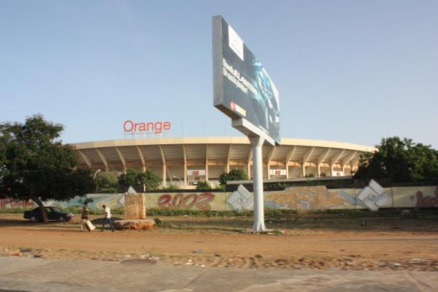 Le stade Léopold Sedar Senghor, aperçu au moins quatre fois ce lundi / The Léopold-Sedar-Senghor Football Stadium always happen to be on my way