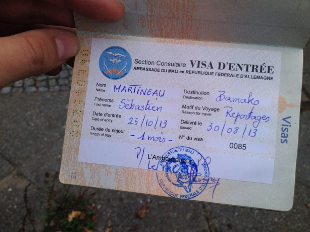 And here the visa for Mali / Et le visa pour le Mali