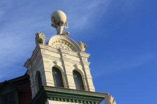 Un édifice datant de l'époque coloniale allemande, à Swakopmund / This Swakopmund building dats back to the German colonial time